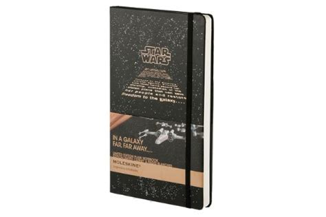 2016 moleskine star wars moleskine star wars limited edition notebook large plain black hard cover 5 x 8 25