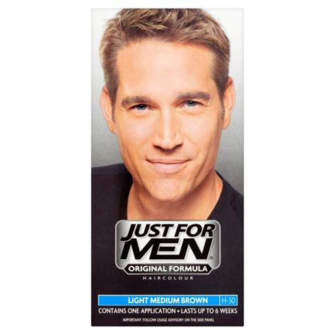just for men light brown just for men hair colour light medium brown chemist direct