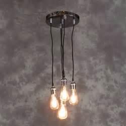 multi pendant ceiling light vintage chrome 5 light multi ceiling pendant with black
