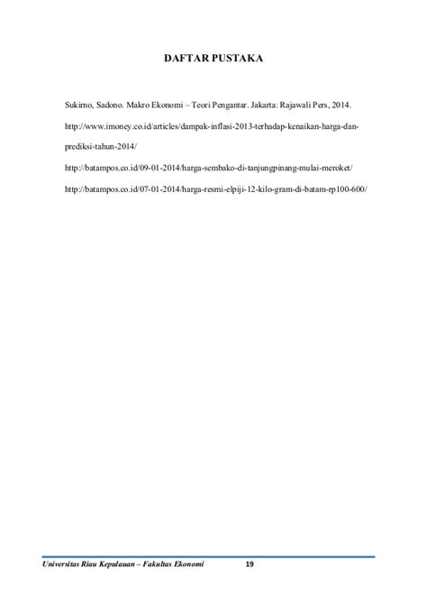 Makroekonomi Sadono Sukirno penelitian sembako 2013 terhadap inflasi pengantar kuliah makro ekono