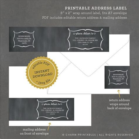 printable magnetic label best 25 address label template ideas on pinterest print