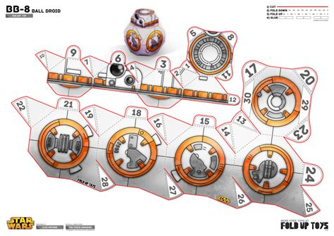 Wars Papercraft Templates by Bb 8 Wars Paper Template Paper Toys