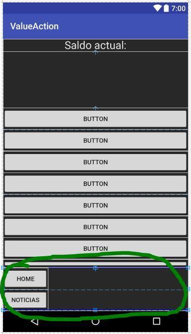 layout en español wordreference android alinear tres botones horizontalmente en un