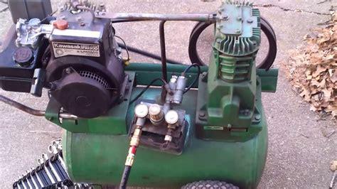 speedaire gas air compressor  kawasaki engine youtube