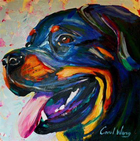 pintar cuadros con pintura acrilica rottweiler dog pintura acr 237 lica sobre tela youtube