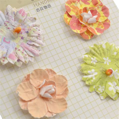 Make Paper Flowers Scrapbooking - handmade 3d paper flowers diy scrapbooking album decor