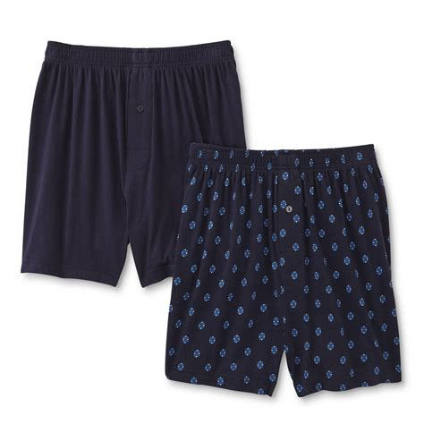 knit boxer shorts joe boxer s 2 pairs knit boxer shorts geomteric solid