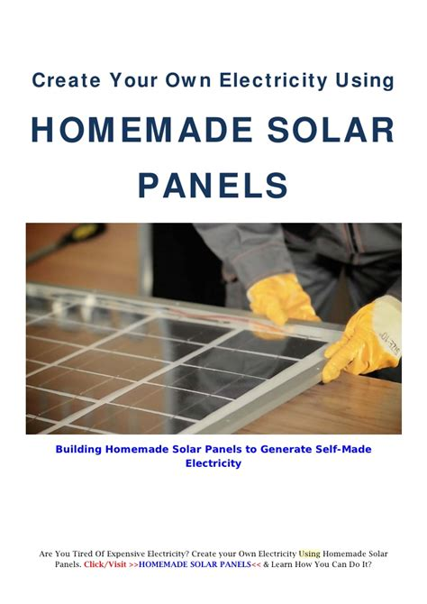 make your own building create your own electricity using homemade solar panels