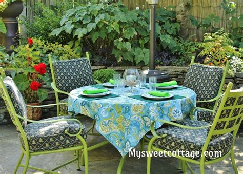roses an easy patio tablecloth and some vintage finds