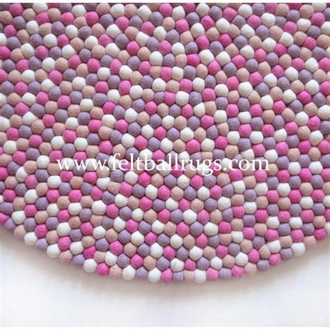 Handmade Rug - pink handmade felt rug felt rugs