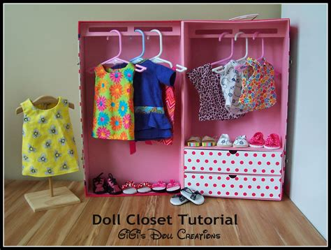 How To Make A American Doll Closet by Gigi S Doll And Craft Creations American Doll Closet