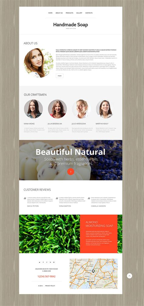 Handmade Websites - handmade soap 55291 by wt website templates
