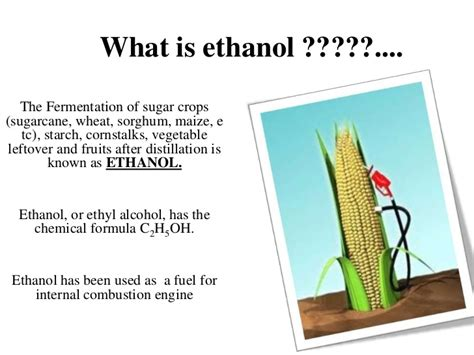 what is a called ethanol as a transportation fuel