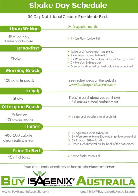 Shake Detox Plan by Isagenix Shake Day Planner Search Isamazing