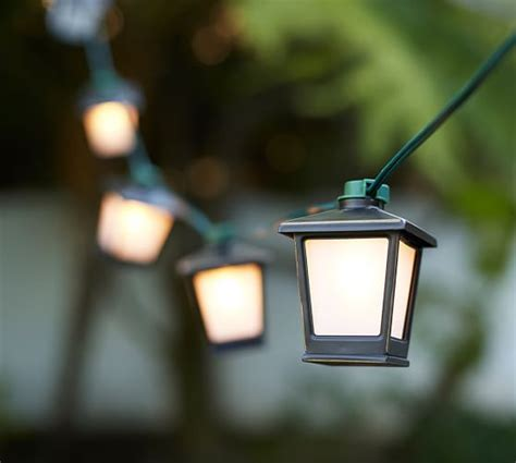 Malta Mini Lantern String Lights Pottery Barn Lantern String Light