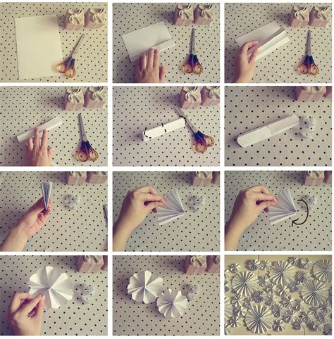 Steps To Make A Paper Flower - pale the cat paper flowers