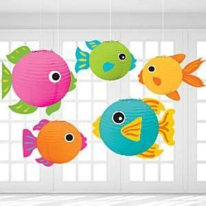 How To Make Paper Lantern Fish - fish lanterns 24cm 5pk these brightly coloured