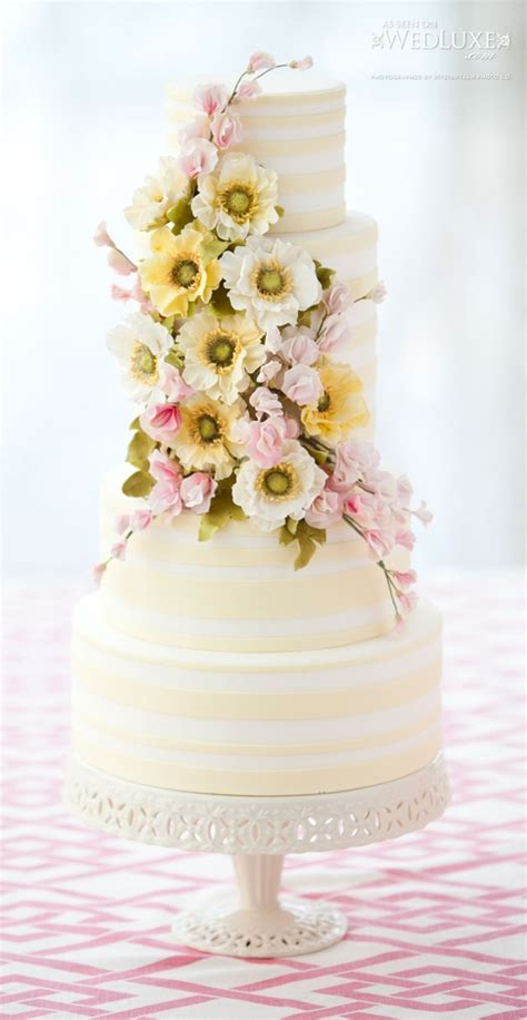 12 Pretty Pastel Colored Wedding Cakes   One Charming Day