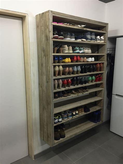 diy shoe rack for closet baby design interior kitchen white cabinet grey door brown tile floor ceramic