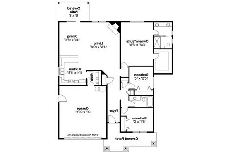 Floor Plans by Craftsman House Plans Logan 30 720 Associated Designs