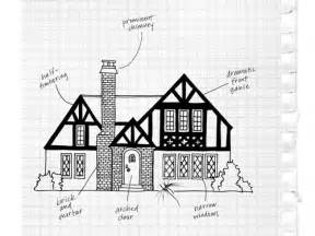 Tudor House Template by Tudor House Drawing Sketch Coloring Page