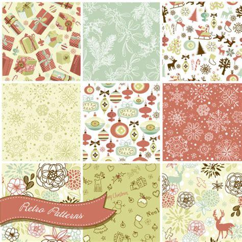 christmas pattern ai vector set of christmas style pattern illustration free