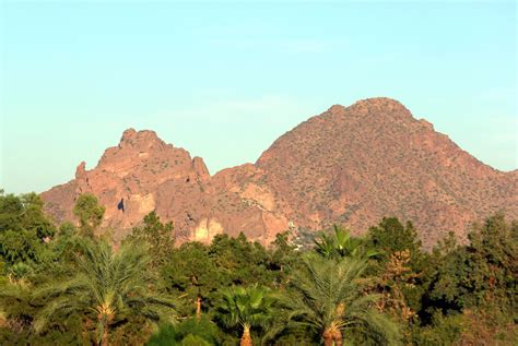 what is a camel back camelback mountain view from the southwest at sunset