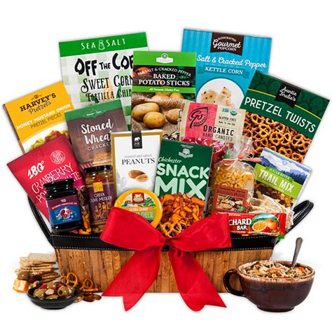 healthy christmas gift basket by gourmetgiftbaskets com