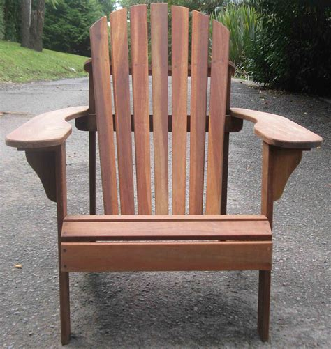 Brown Adirondack Chairs by New Brown Hardwood Adirondack Chair Ebay