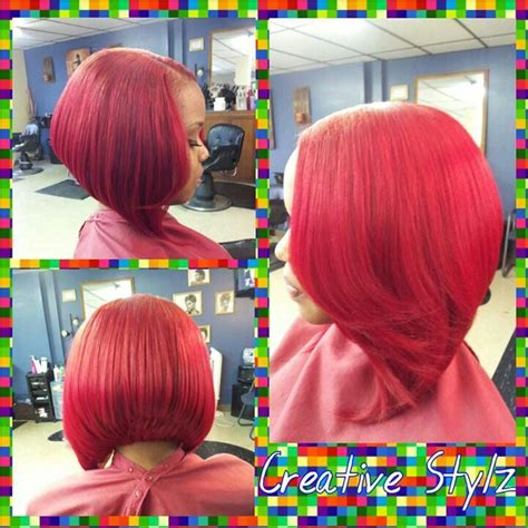 Red Weave Bob | quick weave bob cute short swing bob hairstyle