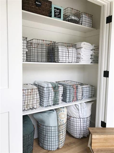 Simply Done The Most Beautiful Linen Closet Linens Bathroom Linen Storage Ideas