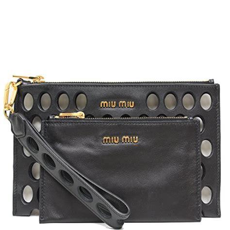 Miu Miu Calf Soft Clutch by Miu Miu Prada Soft Calf Leather Fori Piatto Maniglia