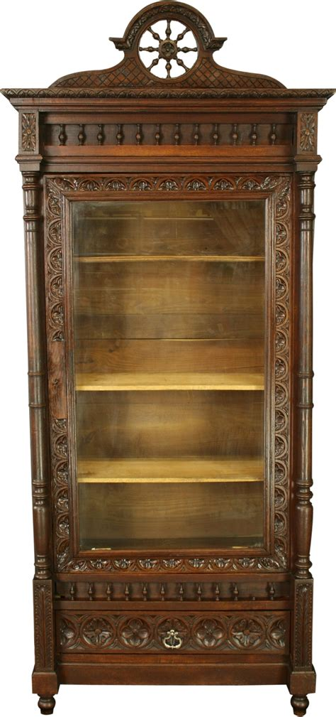 Armoire Bookcase by Antique Armoire Bookcase China Cabinet Ebay