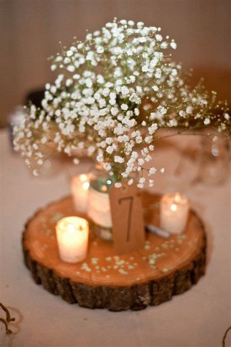 17 best ideas about wood wedding centerpieces on