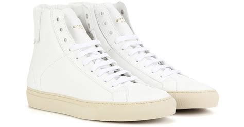 givenchy knots high top leather sneakers in white lyst