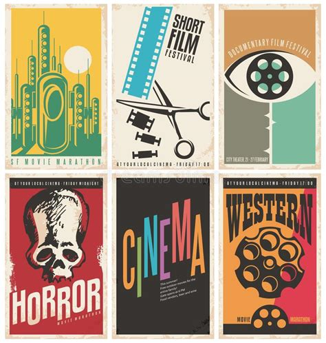 design concept poster collection of retro movie poster design concepts and ideas