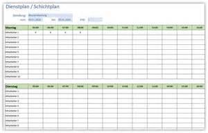 Kostenlose Vorlage Dienstplan Einfacher Dienstplan Schichtplan Alle Meine Vorlagen De