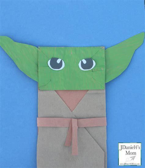 Wars Paper Crafts - yoda puppet wars craft