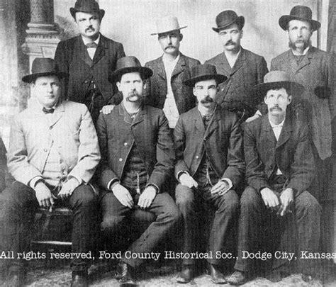 dodge city peace commission june  original photograph  west lawmen wyatt  earp luke