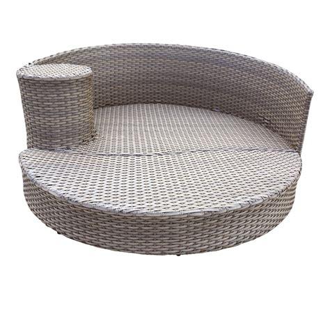 circular patio furniture harmony circular sun bed outdoor wicker patio furniture