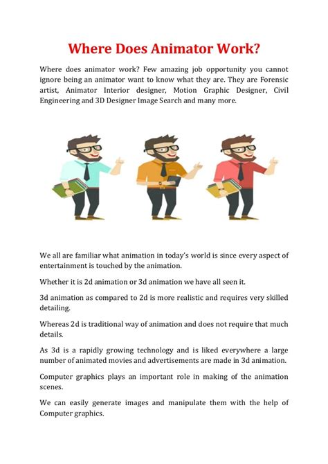 Description Of An Animator by Computer Graphics And Animation Description Computer Graphic