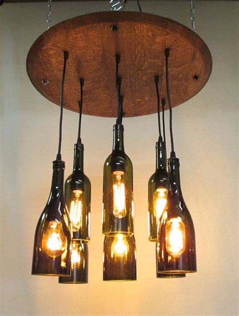 wine bottle light fixture chandelier 9 light wine bottle barrel top chandelier ceiling