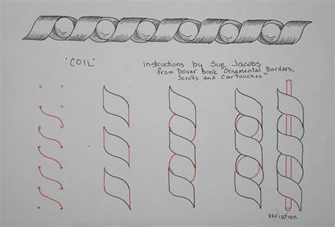 zentangle pattern coil zentangle instructions a gallery on flickr