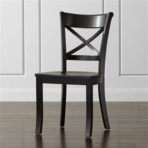 Black Wooden Dining Chairs - vintner black wood dining chair reviews crate and barrel