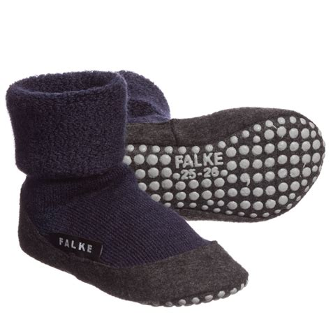 slipper socks falke navy blue merino wool slipper socks childrensalon