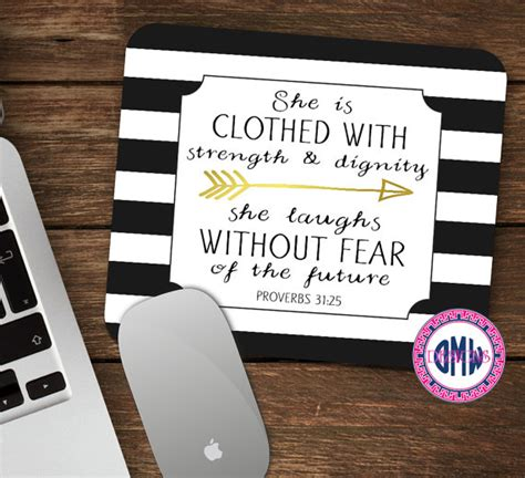 desk pads for women scripture mouse pad proverbs woman proverbs 31 25 mouse