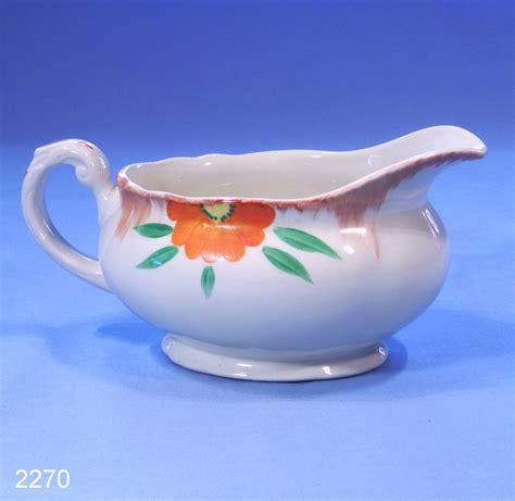 grindley cream petal hand painted floral vintage sauce - Grindley Gravy Boat
