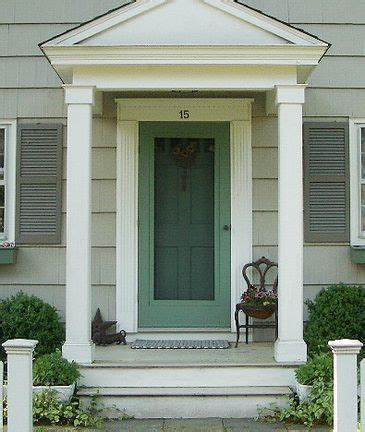new pillars molding small front stoop notice wide white