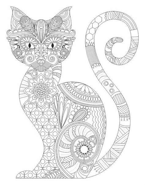 cat zentangle coloring page cat entangle coloring pages colouring adult detailed