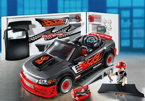 Playmobil Tuning Auto by Playmobil Set 4366 Tuning Station With Black Car
